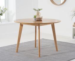 Seth Oak 110cm Round Dining Table