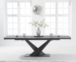 Jack 180cm Extending Grey Ceramic Dining Table