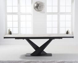 Jack 180cm Extending White Ceramic Dining Table
