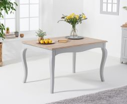 Sienna 130cm Grey Dining Table