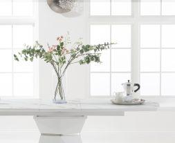 Jayden 160cm White Extending Dining Table