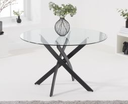Marina 120cm Round Glass Dining Table