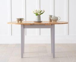 Alaska Oak And Grey Extending Dining Table