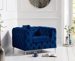 Alegra Blue Plush Chair