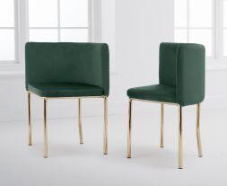 Abingdon Gold Leg - Green Velvet Chair (Set of 4)