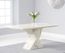 Allen 160cm White Dining Table