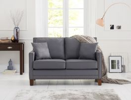 Arundel Grey Leather 2 Seater Sofa