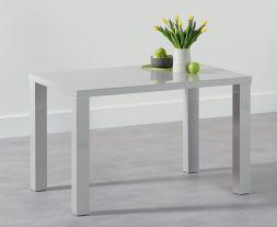 Ava 120cm Light Grey High Gloss Dining Table