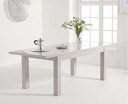 Ava Light Grey Gloss 160-220cm Extending Table