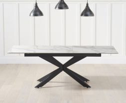 Britolli 180cm Extending White Ceramic Dining Table