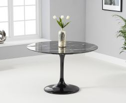 Brittney 120cm Round Black Dining Table