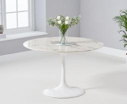 Brittney 120cm Round White Dining Table