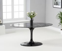 Brittney 160cm Oval Black Dining Table