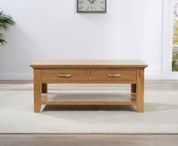 Cambridge Oak Coffee Table (2 Drawers)