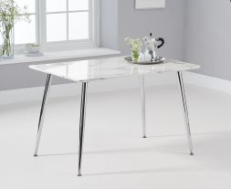 Carrera 120cm White And Grey Dining Table