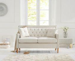 Casa Bella Ivory Fabric 2 Seater Sofa