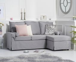 Celia Grey Linen 3 Seater Reversible Chaise Sofa
