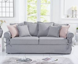 Celia Grey Linen 3-Seater Sofa