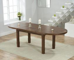 Cheyenne Oval Dark Oak Extending Dining Table