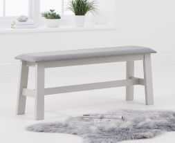 Chichester Grey/Grey Fabric Padded Large Bench
