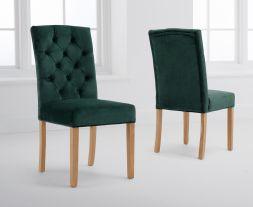 Clarissa Green Velvet Dining Chairs (Pairs)