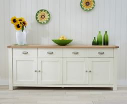 Sandringham Oak & Cream Extra Large Sideboard