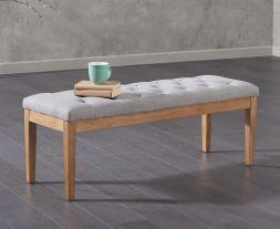 Courtney 120cm Grey Fabric Bench