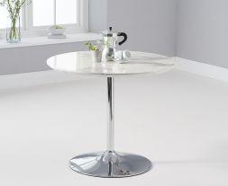 Deborah 90cm White High Gloss Round Dining Table