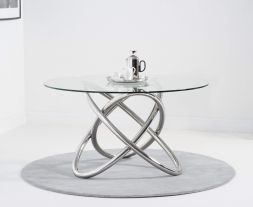 Dina 135cm Glass Dining Table