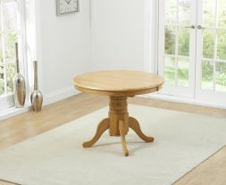 Elstree Solid Hardwood 100cm Extending Dining Table (Oak)