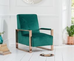 Erica Green Velvet Accent Chair
