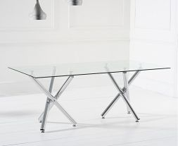 Eva 200cm Glass Dining Table