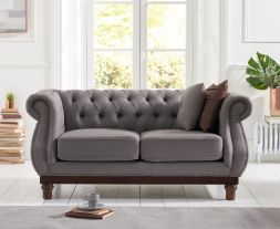 Highgrove Grey Linen 2 Seater Sofa