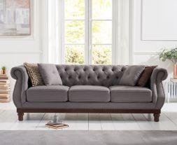 Highgrove Grey Linen 3 Seater Sofa