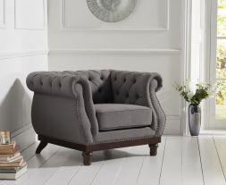 Highgrove Grey Linen Armchair