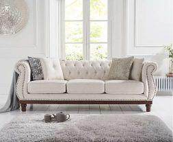 Highgrove Ivory Linen 3 Seater Sofa