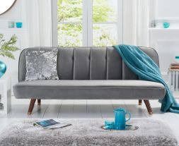 Jodie Grey Velvet Sofa Bed