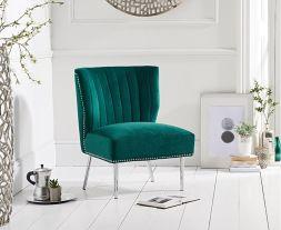 Lara Green Velvet Accent Chair