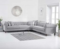 Lauren Grey Linen 2+2 Corner Sofa