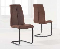 Louisa Antique Brown Hoop Leg Dining Chair (Pairs)