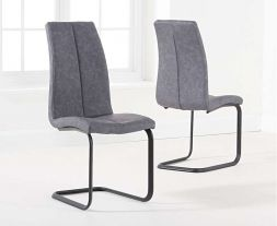 Louisa Antique Grey Hoop Leg Dining Chair (Pairs)