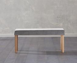 Maiya Small Plush Grey Bench