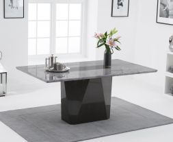 Malina 180cm Light Grey Marble Dining Table