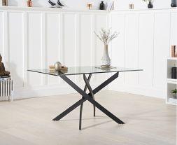 Marina 120cm Rectangular Glass Dining Table