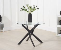 Marina 100cm Glass Dining Table