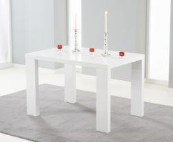 Metz 120cm White High Gloss Dining Table