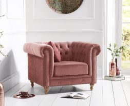 Montrose Blush Plush Chair