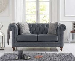 Montrose Grey Leather 2 Seater Sofa