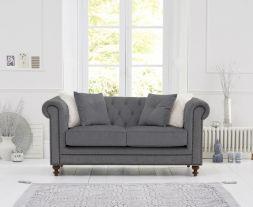 Montrose Grey Linen Fabric 2 Seater Sofa