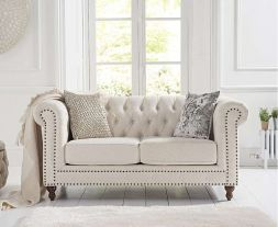 Montrose Ivory Linen 2 Seater Sofa
